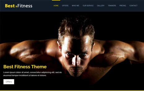 free fitness web template