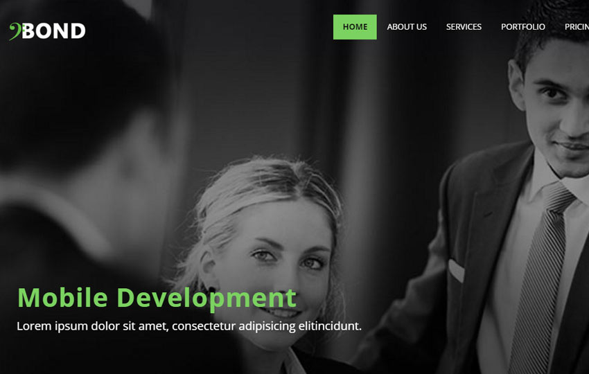 Bootstrap Corporate Web Template