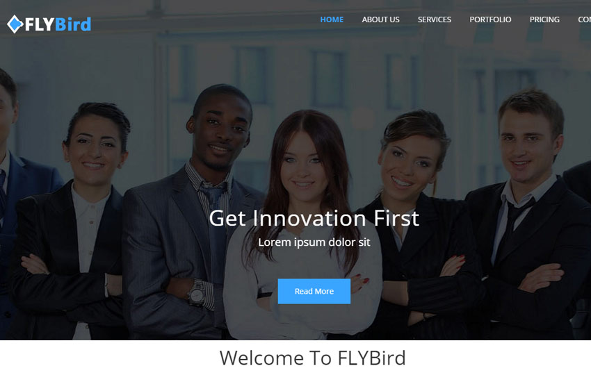Bootstrap Corporate Business Template FlyBird