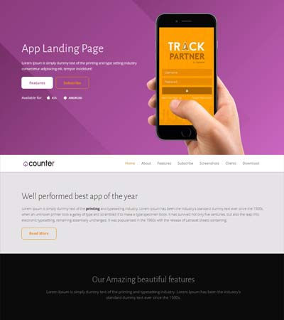 Mobile-App-Landing-Page