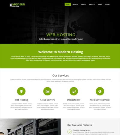 modern web hosting html5 website template webthemez
