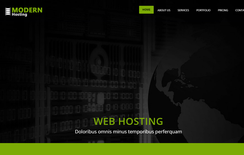 Modern Web Hosting HTML5 Website Template - WebThemez
