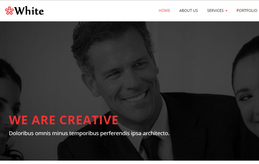 HTML5 Bootstrap Corporate Web Template
