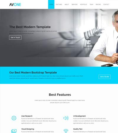 Best corporate business website templates free download avone best responsive bootstrap website template download wajeb Images
