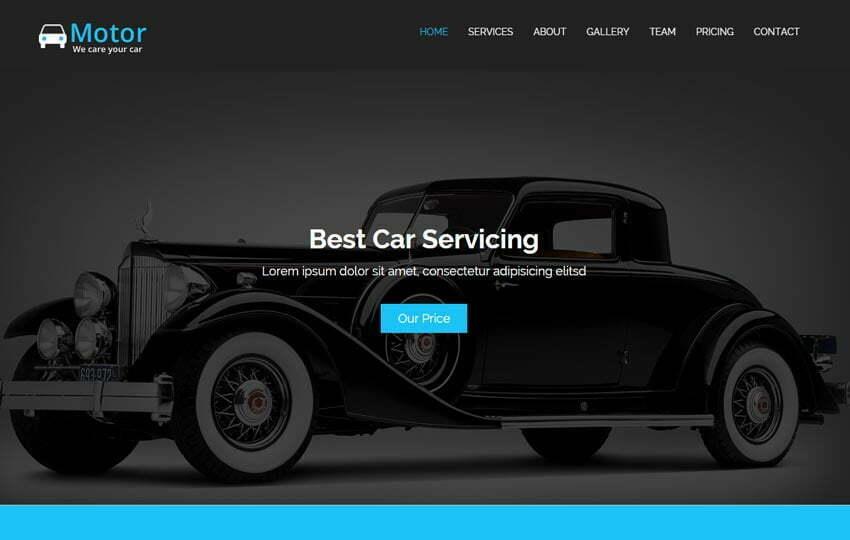 Car Wash Repair HTML5 Bootstrap Template