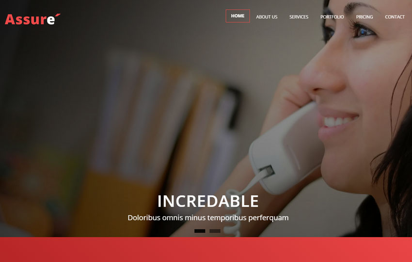 Assure Business Responsive Bootstrap Web Template