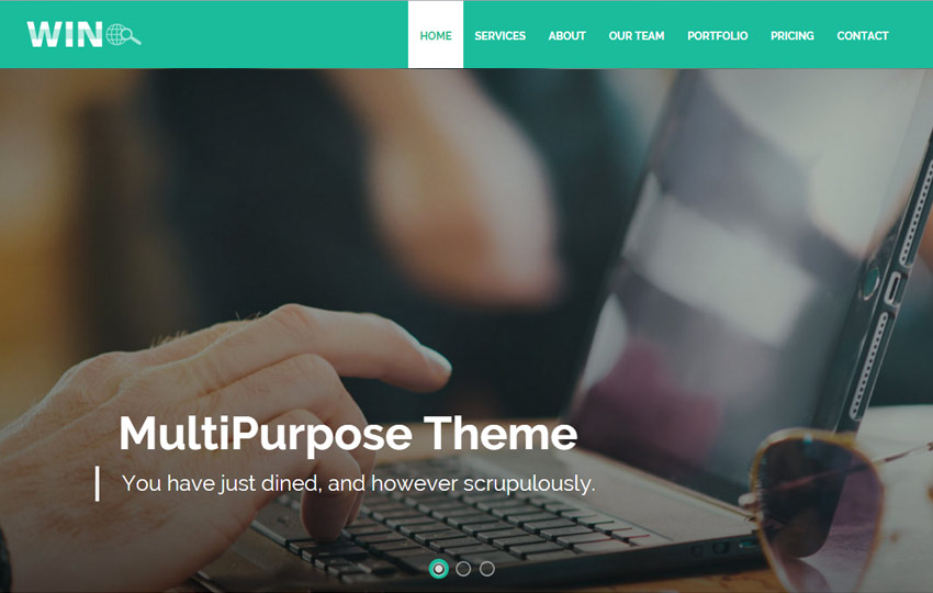 HTML5 Bootstrap Responsive Web Template