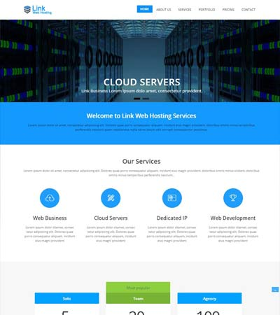 Latest hosting website templates free download webthemez link web hosting free bootstrap template download wajeb Gallery