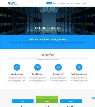 Link Web Hosting Free Bootstrap Template Webthemez
