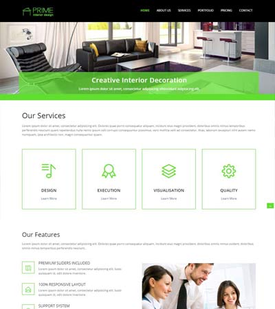 Best interior design website templates free download for Interior design responsive website templates edge free download