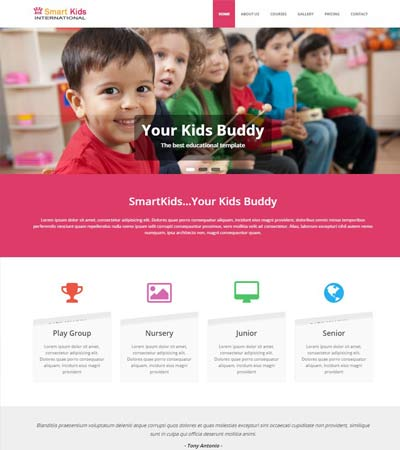 educational website themes and templates free download webthemez