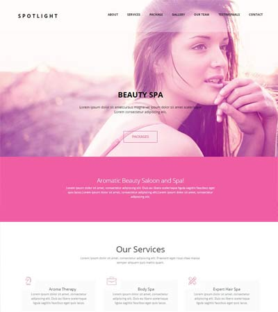 beauty spa html bootstrap template free download webthemez