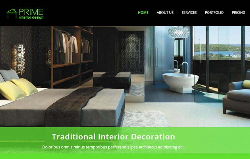 interior design bootstrap responsive template
