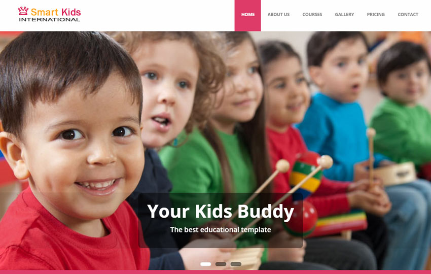 Kids School Education Free Bootstrap Web Template