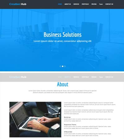 Hub-Responsive-Bootstrap-Template