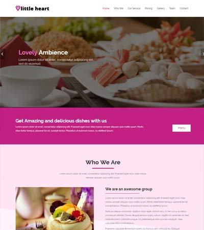 latest food restaurant website templates free download