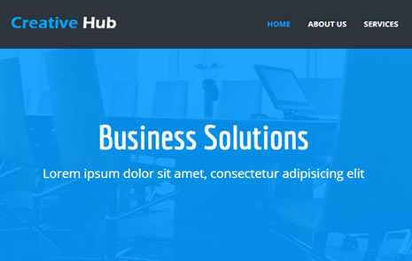 free business web template html