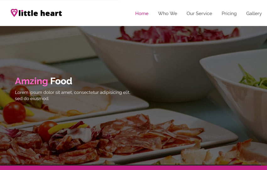 Free Restaurant Bootstrap Web Template