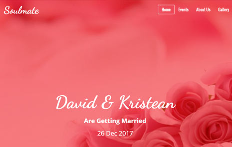 free wedding bootstrap template