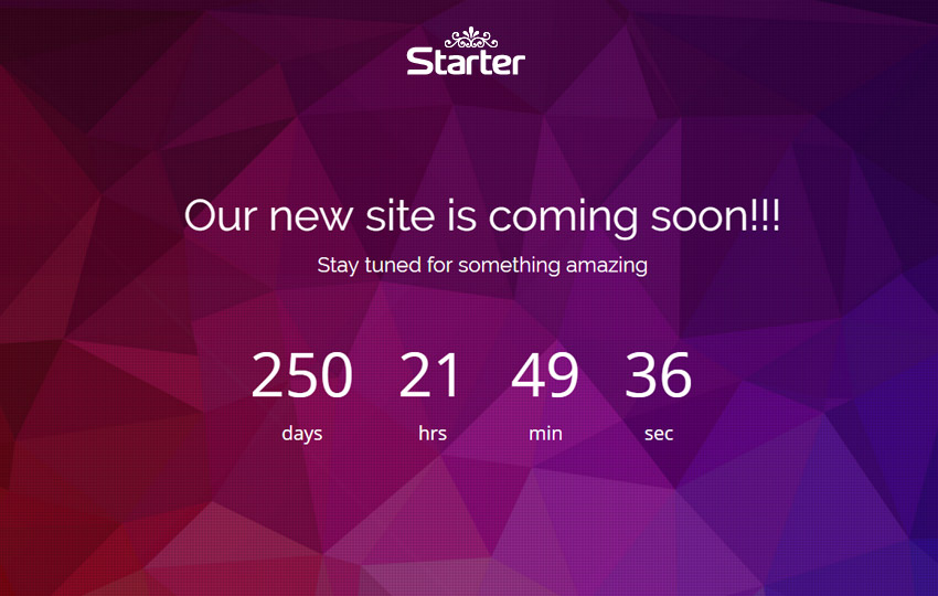 Bootstrap Coming Soon Web Template