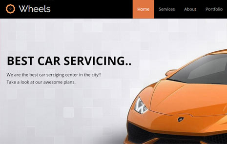 car wash free bootstrap website