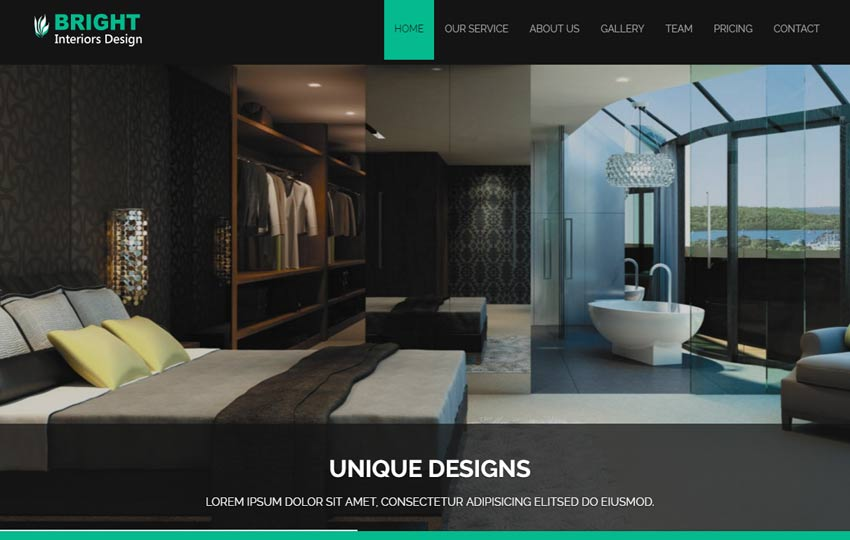 Bright Interior Design Bootstrap Responsive Web Template WebThemez Adorable Interior Design Web Templates