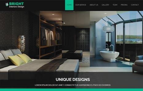 free interior design web template