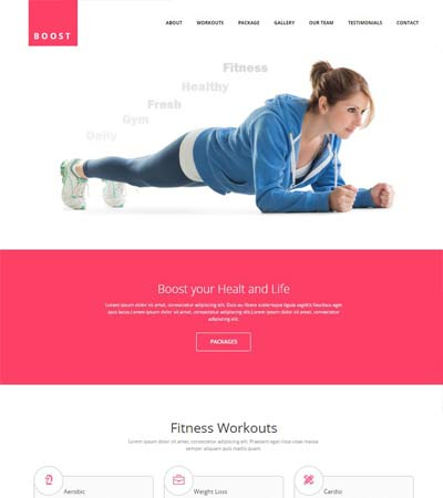 Boost Best Fitness Gym HTML5 Website Template  Fitness Templates Free
