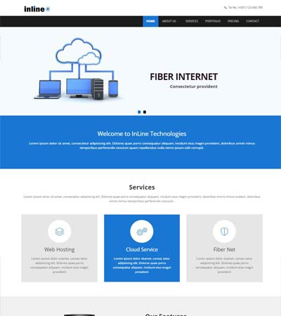 Latest hosting website templates free download webthemez inline hosting responsive html web template flashek Gallery