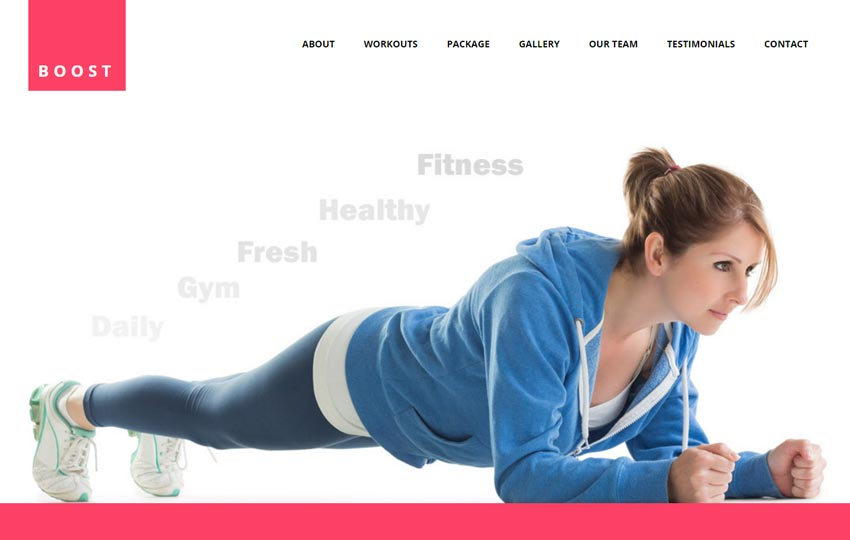 Best Fitness Gym HTML5 Website Template