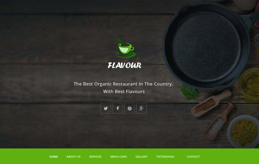 Restaurant HTML5 Responsive Web Template