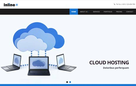 Web hosting free web template