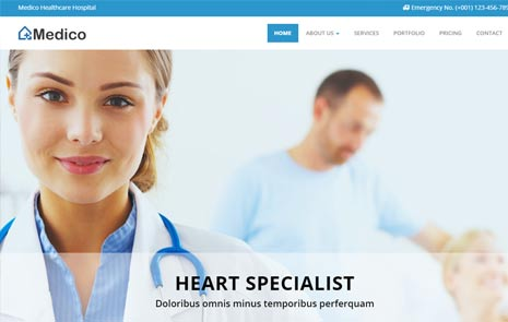 Medico Responsive Medical And Health Bootstrap Html5