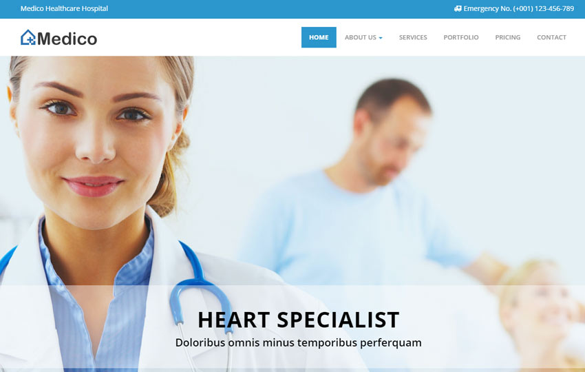 Medical Health Bootstrap HTML5 Template