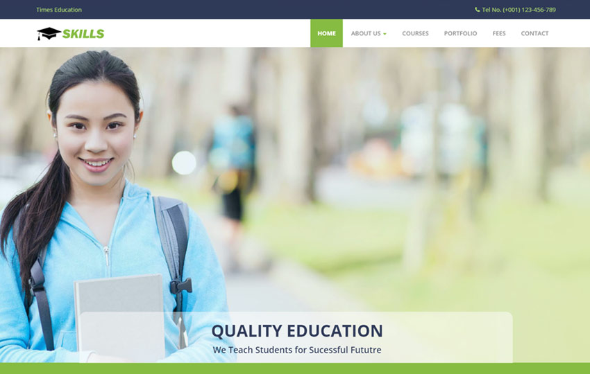 Education Bootstrap HTML Website Template - webthemez