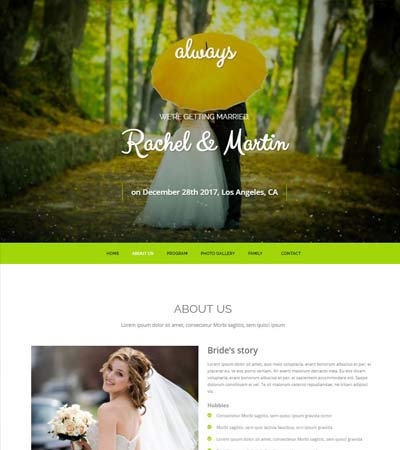 Wedding-Bootstrap-Website-TemplateI