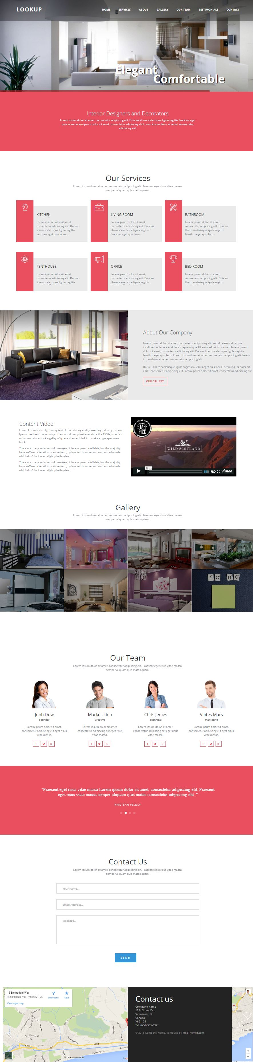 LookUp - Interior Design Bootstrap Template I WebThemez