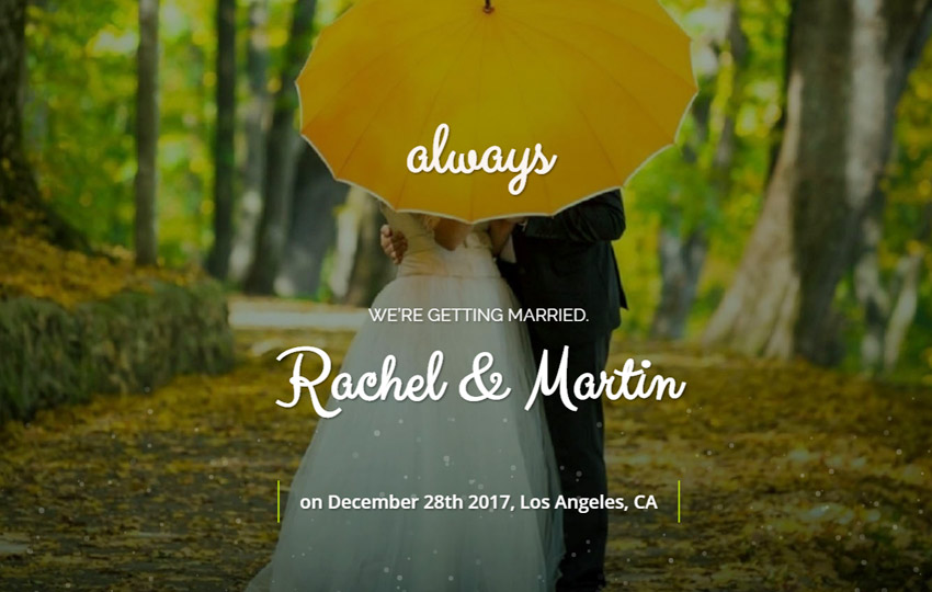 HTML Bootstrap Wedding Website Template