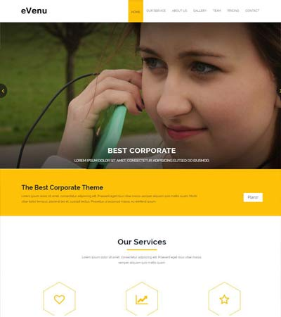 Best corporate business website templates free download evenu best corporate html5 website template wajeb Gallery