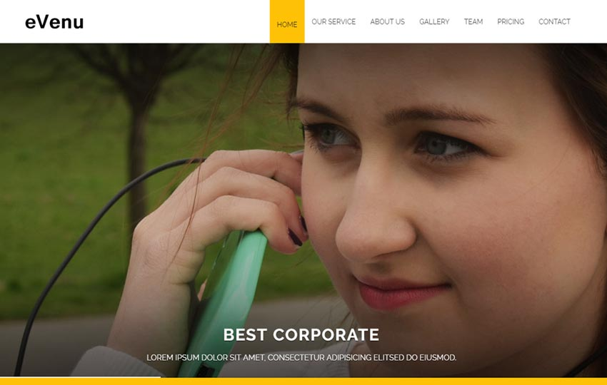 best corporate responsive html template