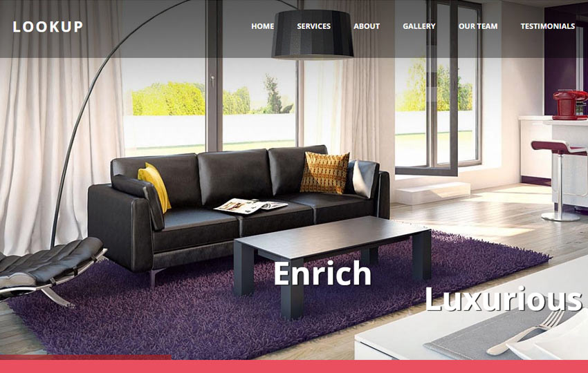 Attractive Interior Design Bootstrap Free Template