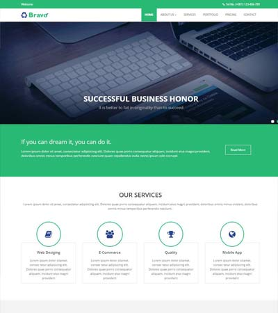 Dogs Website Template Free