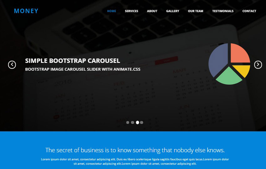 money business html bootstrap responsive web template