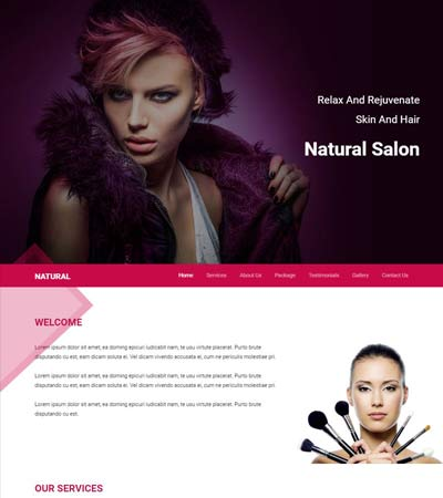 Free html5 salon template