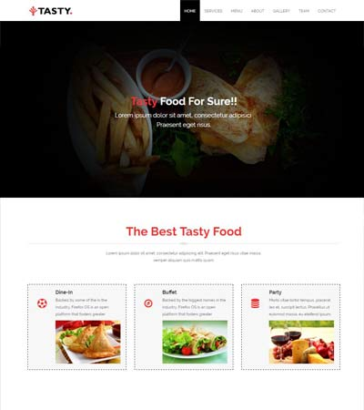 free restaurant web template