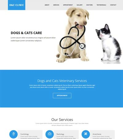 dogs-and-cats-clinic-html5-template