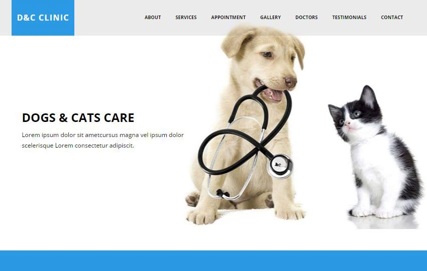 Cats Clinic HTML5 Bootstrap Web Template