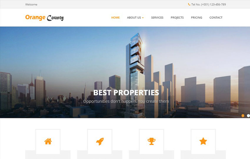 Real Estate Bootstrap HTML Web Template