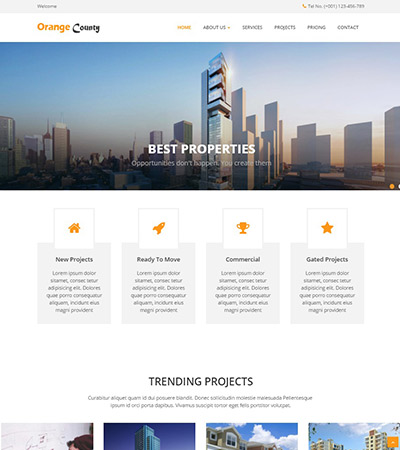 Latest Real Estate Website Templates Free Download WebThemez - Real estate advertisement template