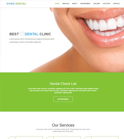 dental-clinic-free-web-template
